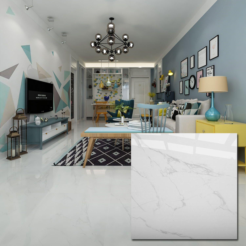 White 600 X 600mm Polished Porcelain Floor Tile In 2020 Living Room Tiles Ceramic Floor Tile Ceramic Floor #white #floor #tile #living #room