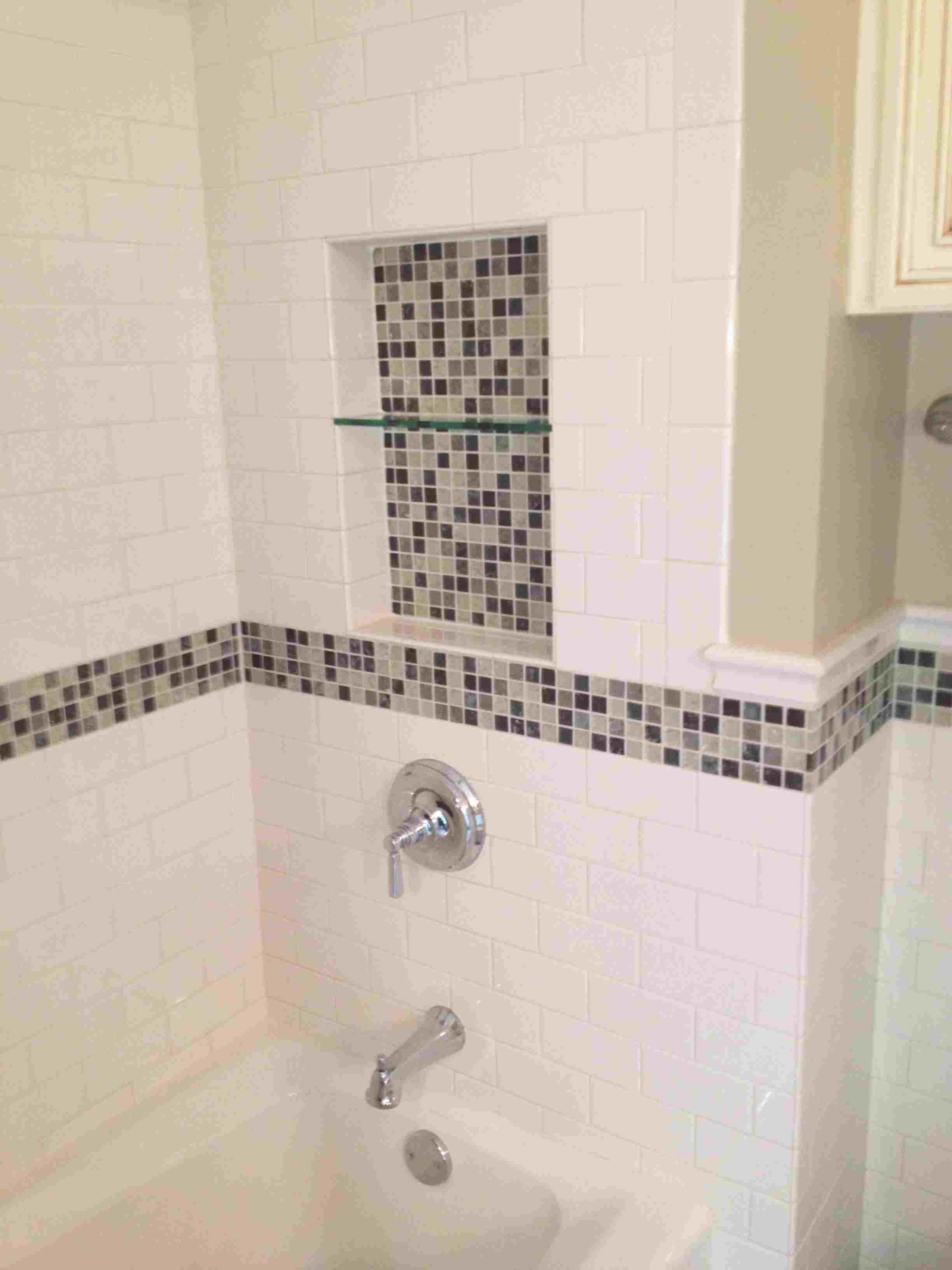 This Bathroom Was Designed By Courtney Walker Glossy Biscuit Subway Tile Used Throughout To