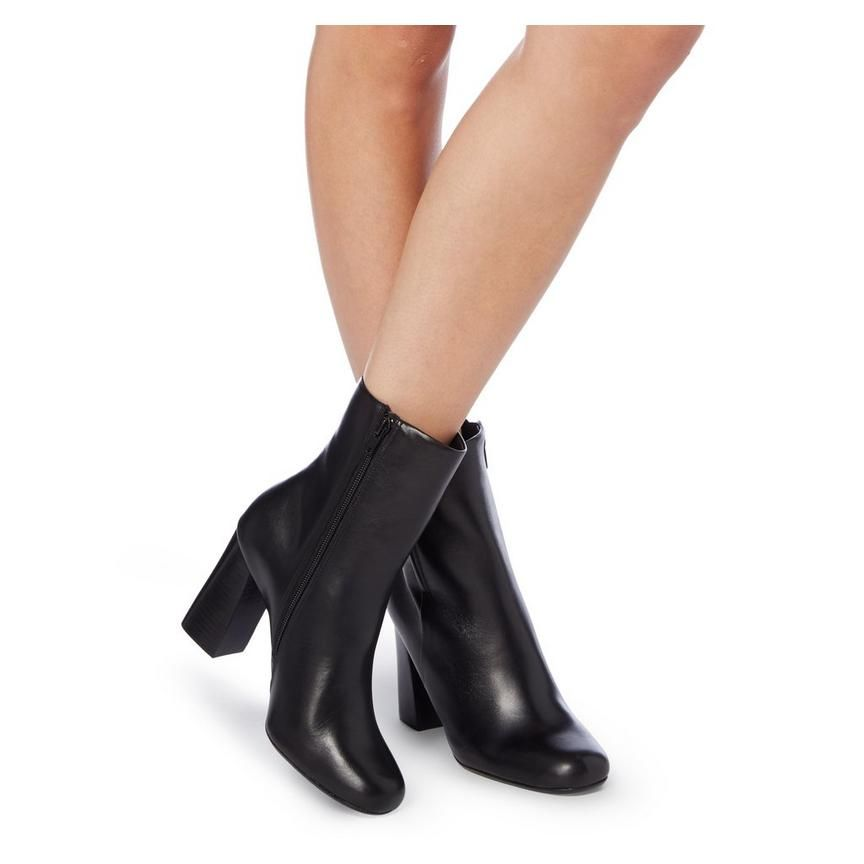 867b8aea720 OSMOND - Flared Heel Ankle Boot - black