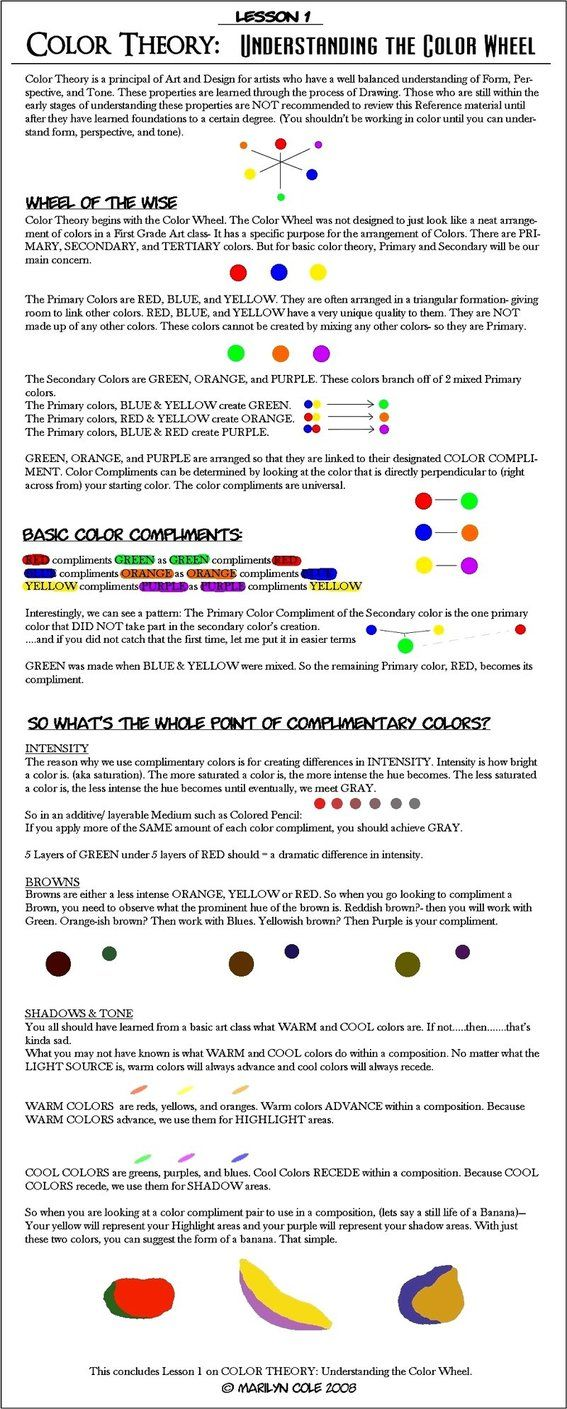 Color Theory Lessons | Lesson 1 : Color Wheel by `Katmomma