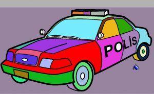 Polis Arabasi Boyama Oyunu Oyun Ve Polis