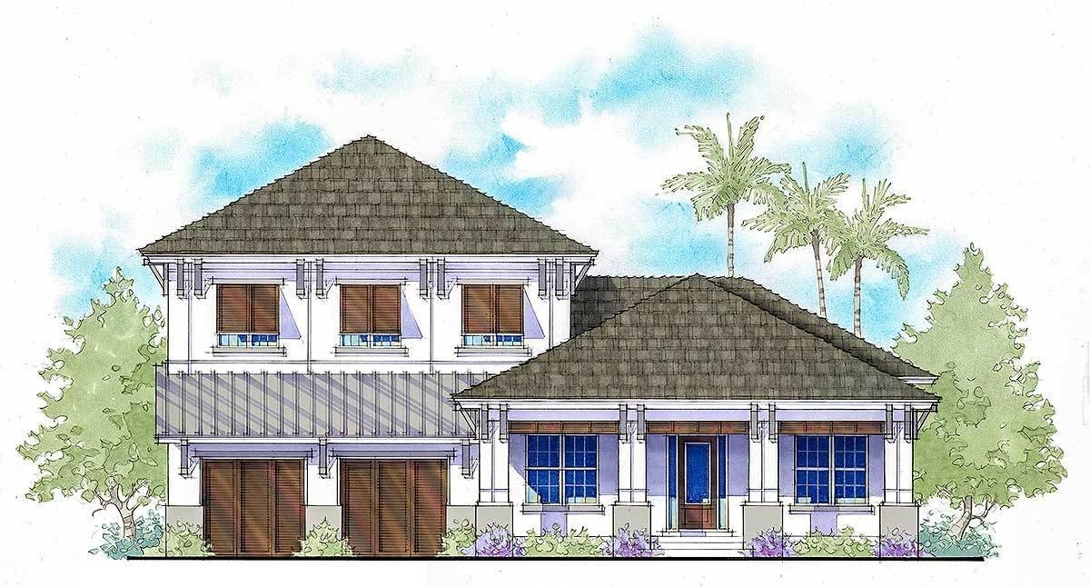 Two Story West In s Style House Plan With Two Master Suites
