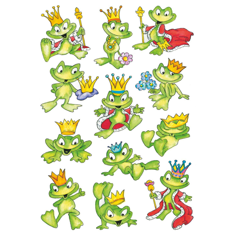 sticker decor froschkönig mit bildern  frösche