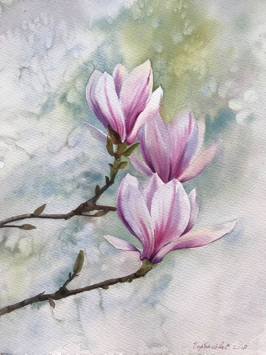 Painting By Eugenia Gorbacheva Russia Artmajeur Watercolor Flowers Paintings Flower Art Painting Flower Painting Canvas