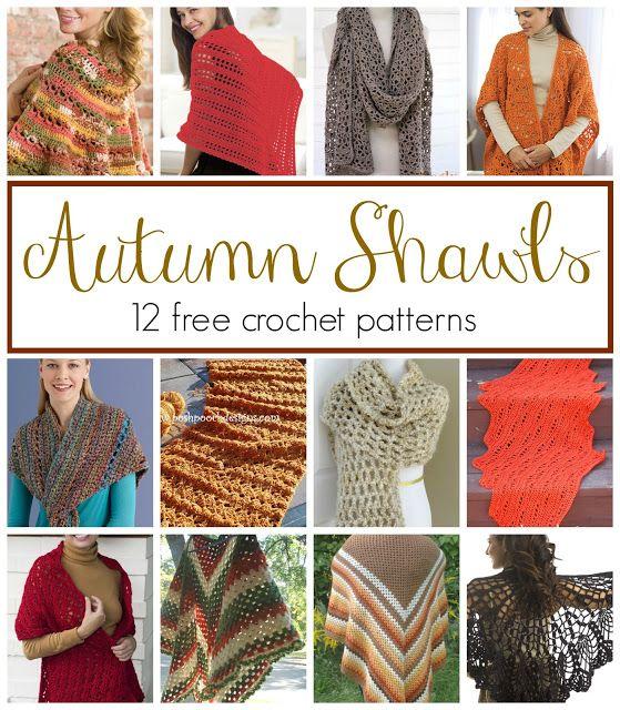 Autumn Shawls...12 Free Crochet Patterns | Pinterest | Tücher, Schal ...