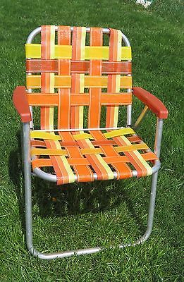Superb Vintage Folding Lawn Chair Aluminum Webbing Patio Webbed Download Free Architecture Designs Scobabritishbridgeorg