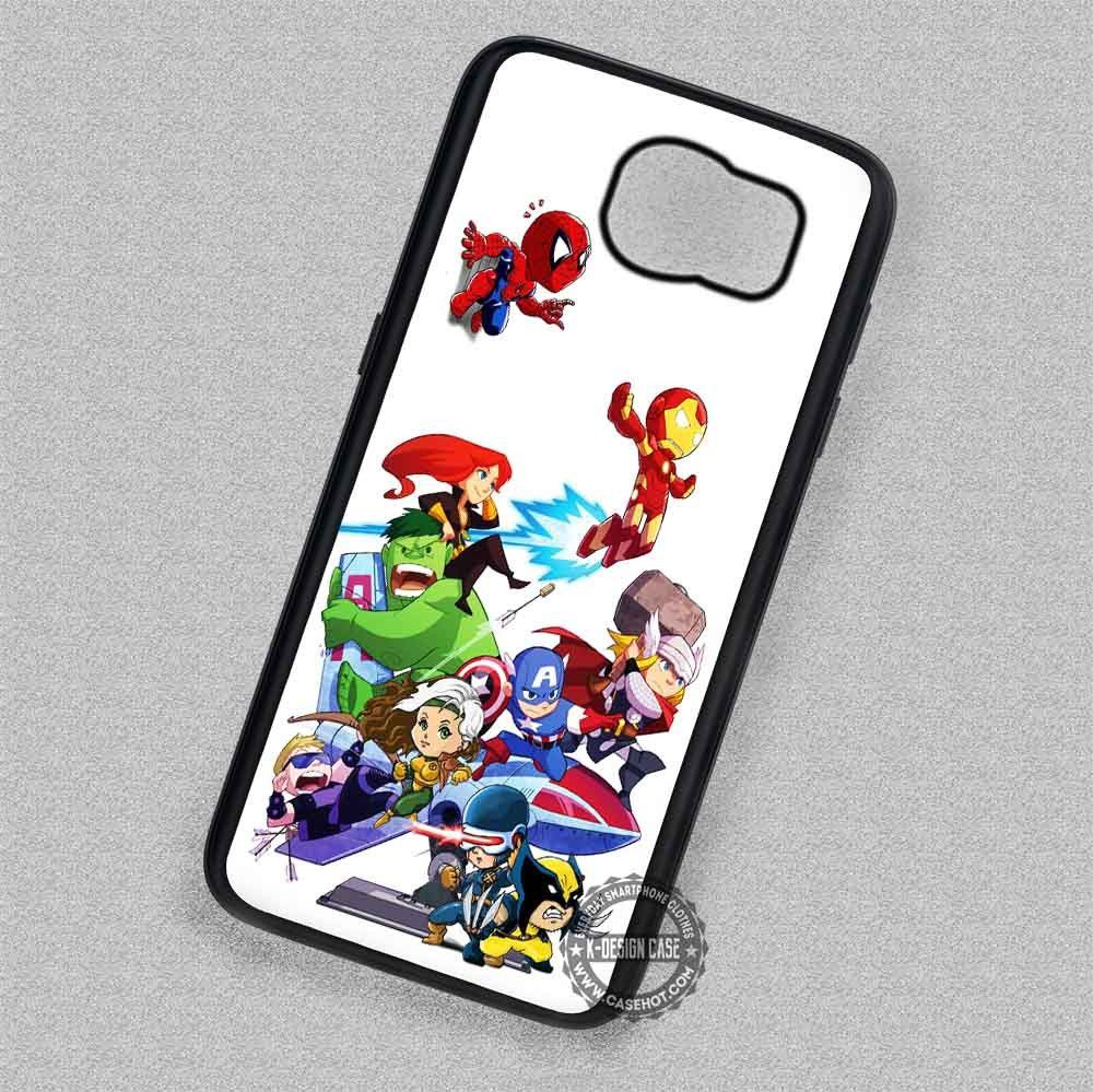 Cute Chibi Marvel Heroes Comic - Samsung Galaxy S7 S6 S5 Note 7 Cases & Covers