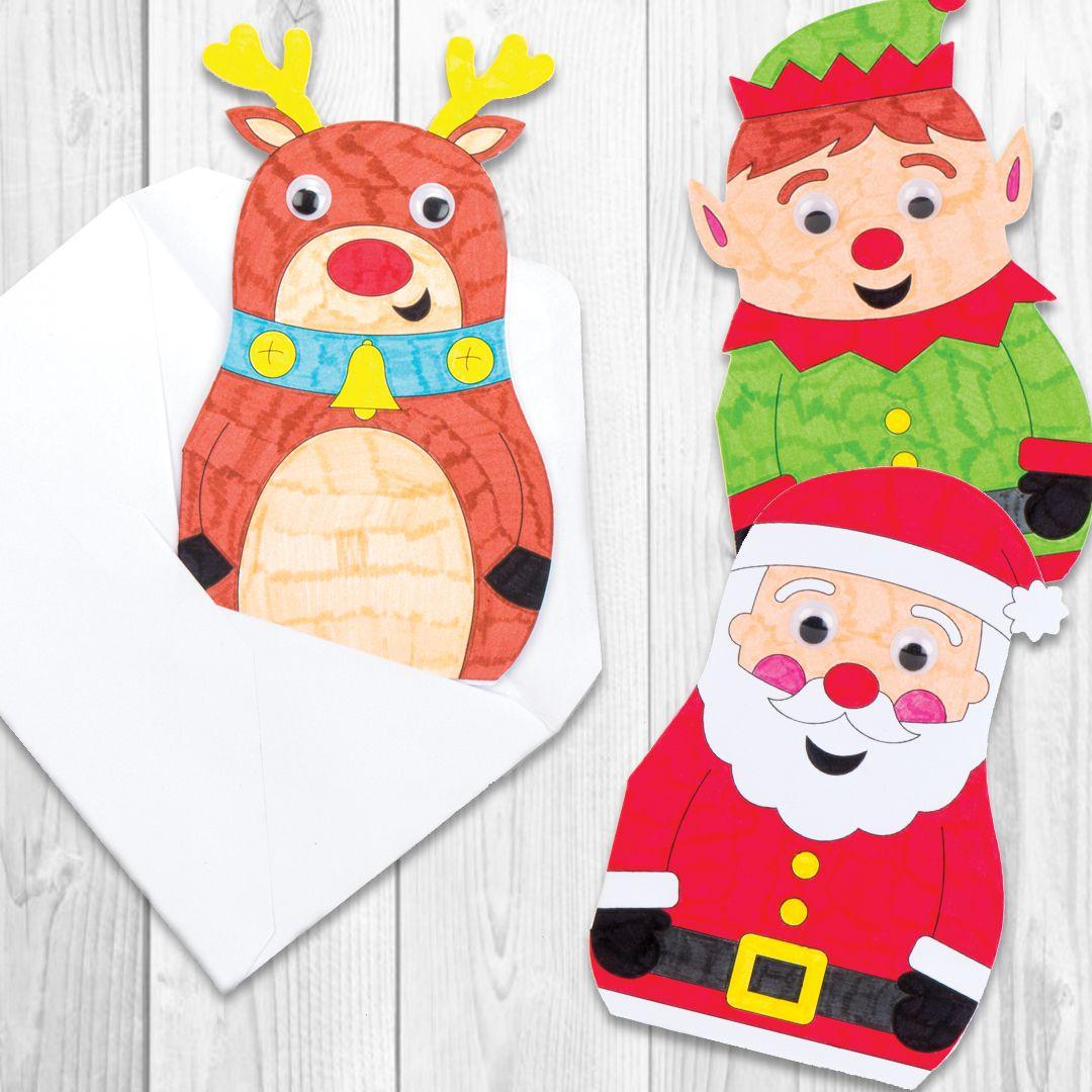 Christmas Wiggle-Eye Cards - Bakerross | Christmas / Kids Crafts ...