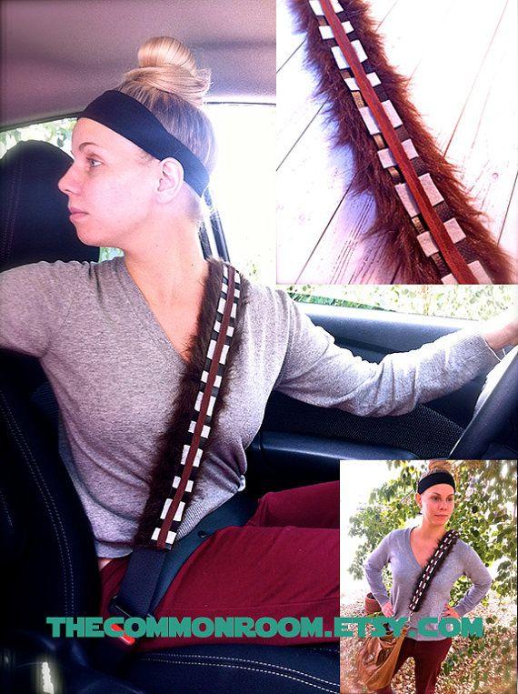 Chewbacca inspired seatbelt cover, purse strap, seat belt, guitar strap, car accessory  Etsy.com