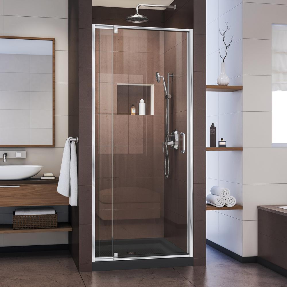 Dreamline Flex 32 To 36 In X 72 In Framed Pivot Shower Door In
