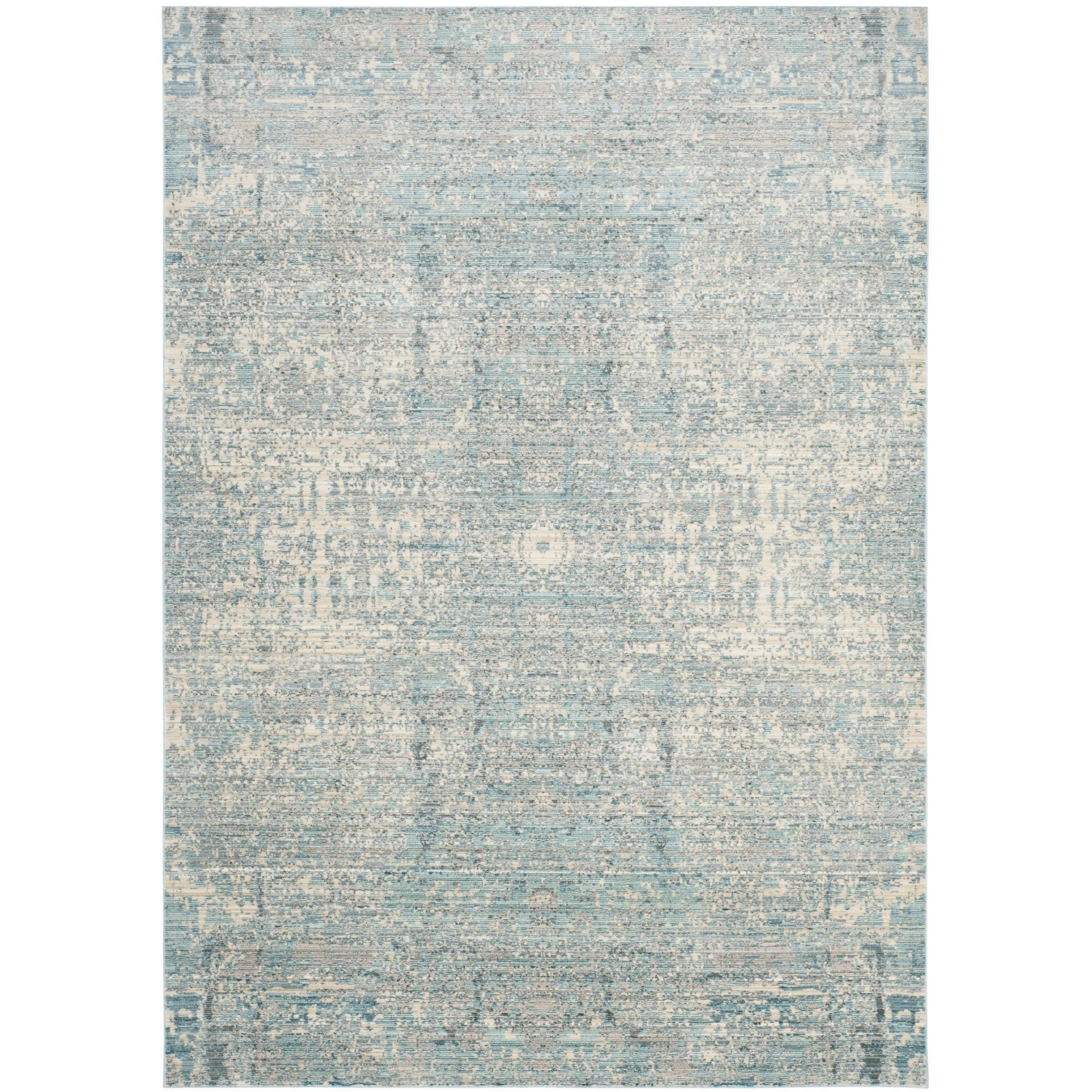 Safavieh Mystique Watercolor Vintage Teal Multi Polyester Rug 8 X