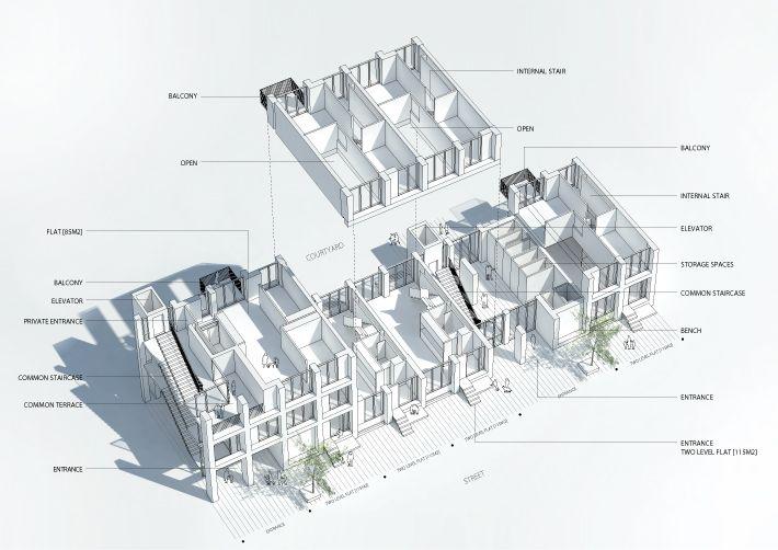 AXO_UDSNIT_00 Della Casa S_2017 Pinterest Social housing and - Plan De Construction D Une Maison