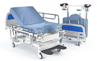 Bed Birthright Maternity Delivery Bed With Mattress And Side Rails Manual In Uk Hospital Bed Medical Office Design Medical Equipment