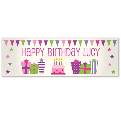 Personalised Female Presents Banner  from Personalised Gifts Shop - ONLY £19.95