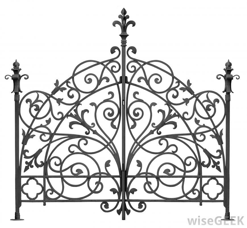 what is wrought iron fence with pictures - Wrought Iron Wall Designs