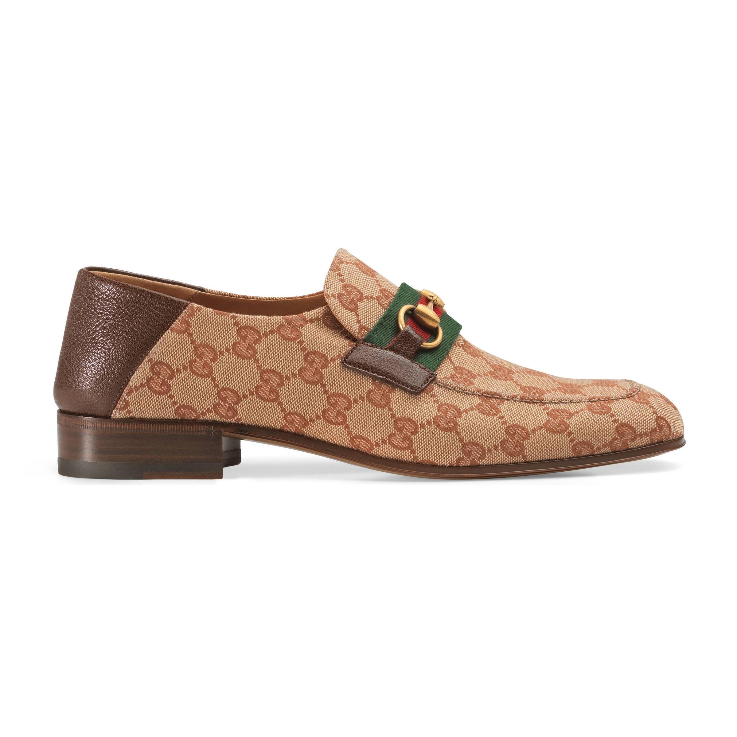 e0295f133b1 GUCCI GG CANVAS HORSEBIT LOAFER.  gucci  shoes