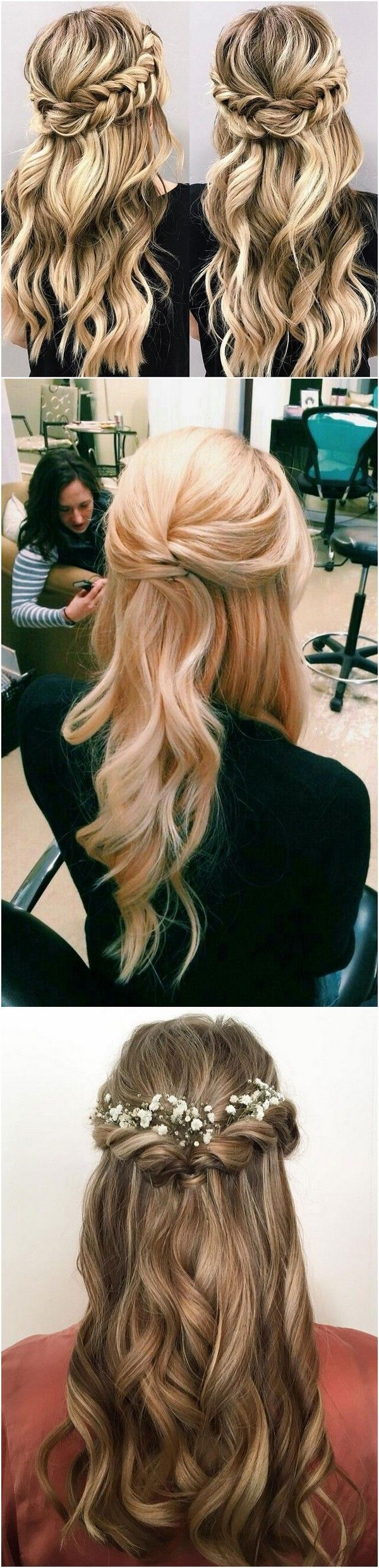 chic half up half down wedding hairstyles for long hair page
