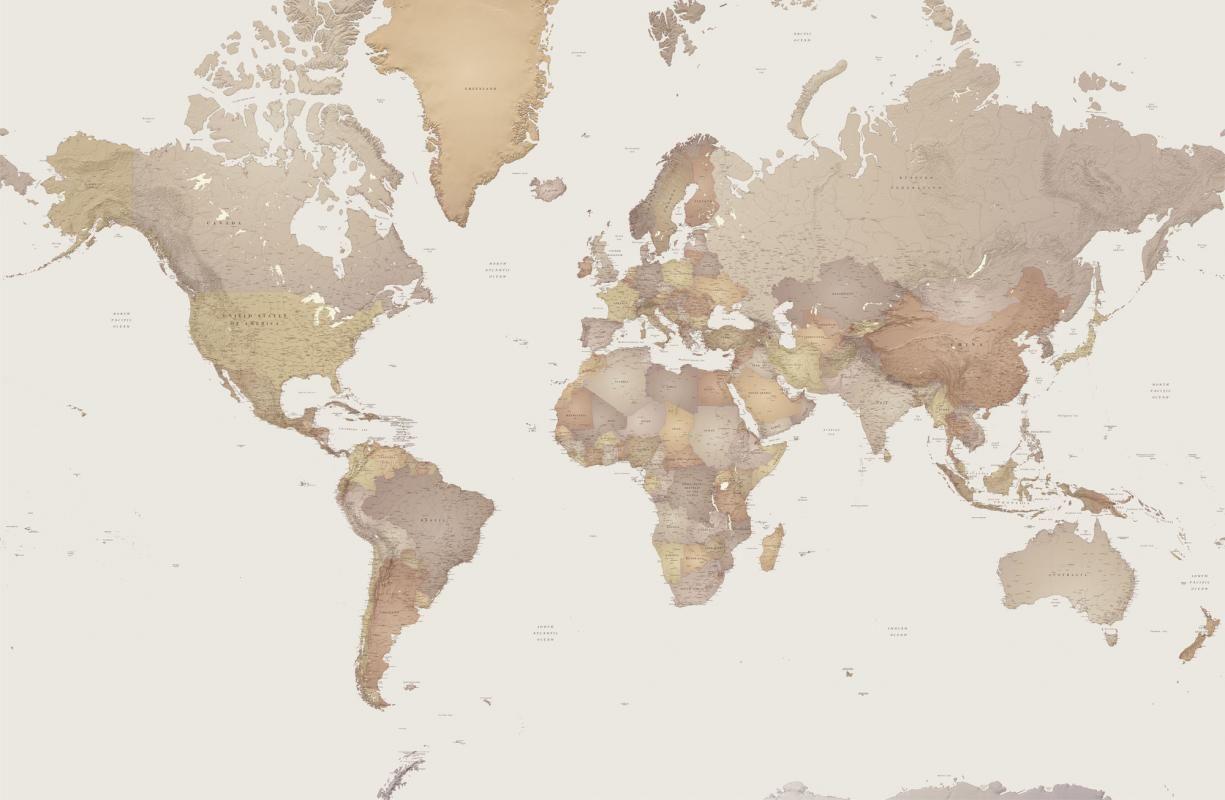 world map wallpaper mural designed by p godwin
