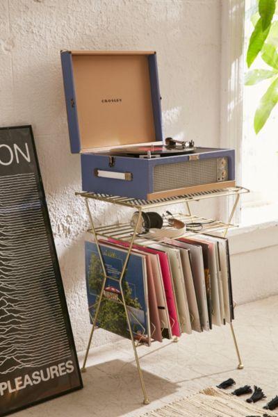 Crosley Dansette Turntable Vinyl Storage Rack Design Music Corner