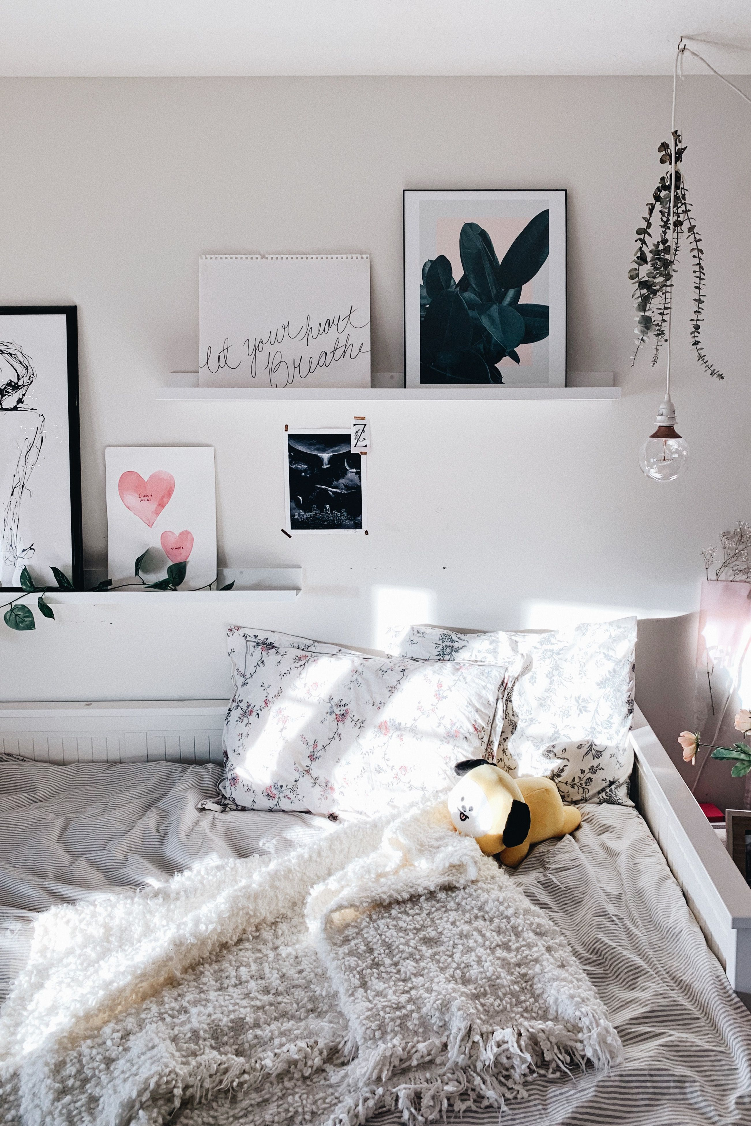 Gallery Wall Above Bed Ikea Bedroom Decor Shelves