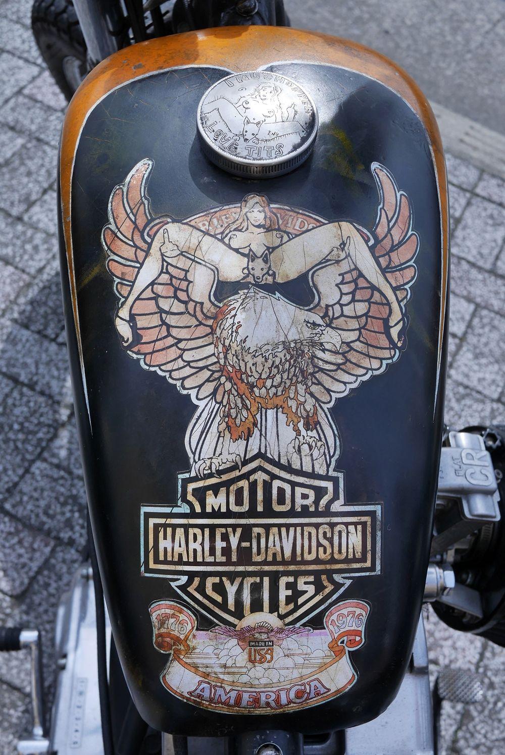 "HD XLCH 1000 Sportster ""Ironhead"" fuel tank Japan Bike"