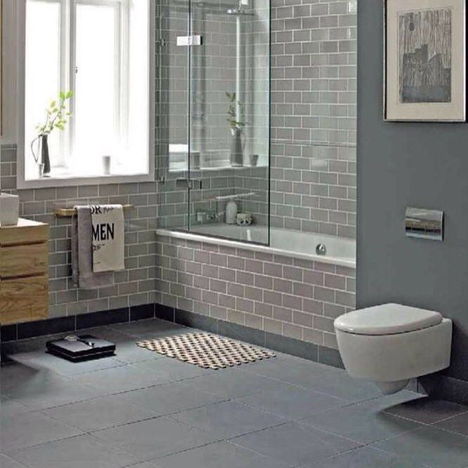 This Beautiful #bathroom Design With Grey Subway #tile And Large Prepossessing Beautiful Bathroom Design Design Inspiration