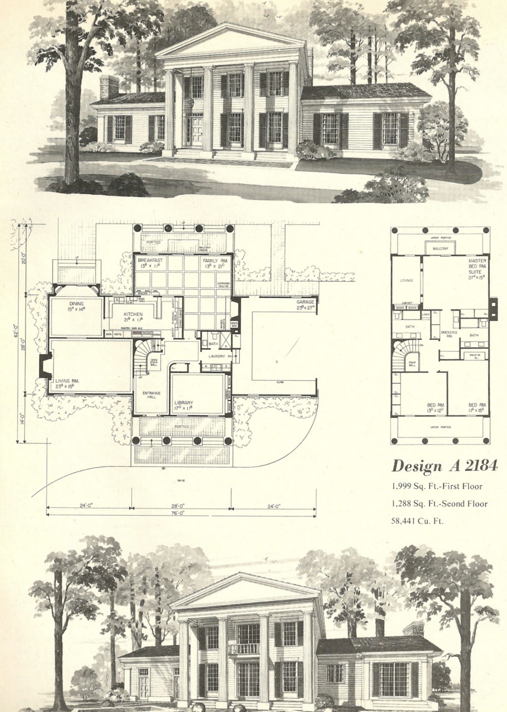 Vintage House Plans 2184 With Images Vintage House Plans