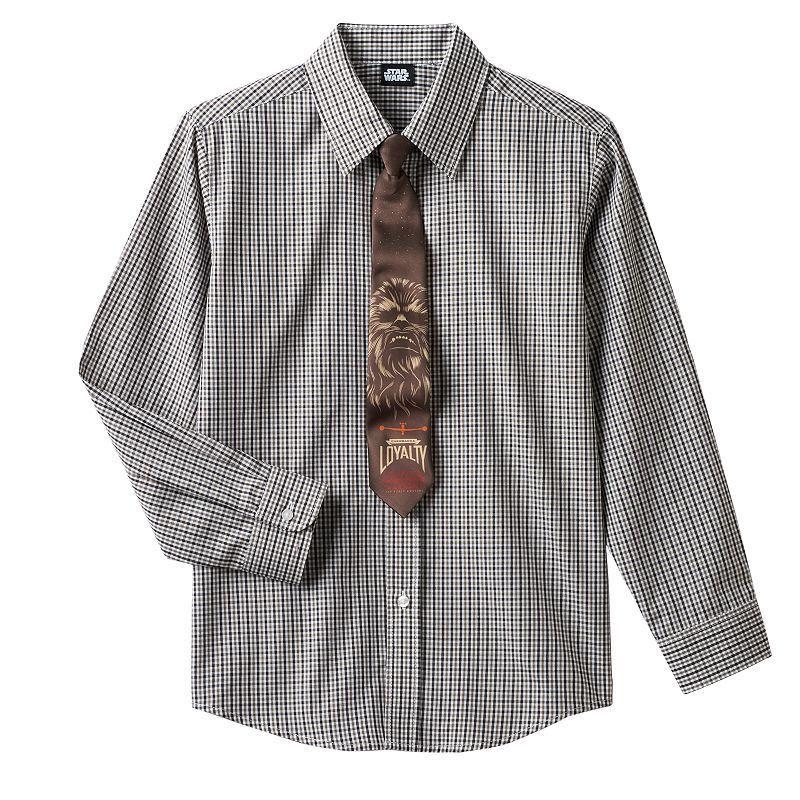 Boys 4-7 Star Was Chewbacca Shirt & Tie Set, Boy's, Size: 5, Red/Coppr (Rust/Coppr)