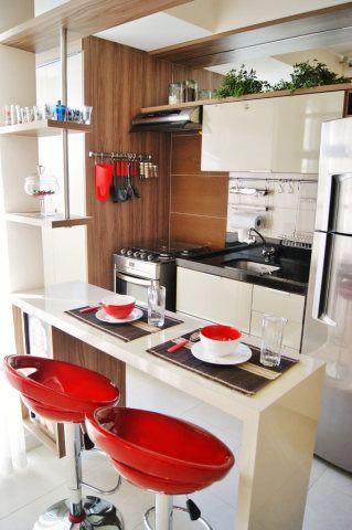 20 ap s pequenos que provam que d pra viver bem com pouco for Cocinas modernas para apartamentos pequenos