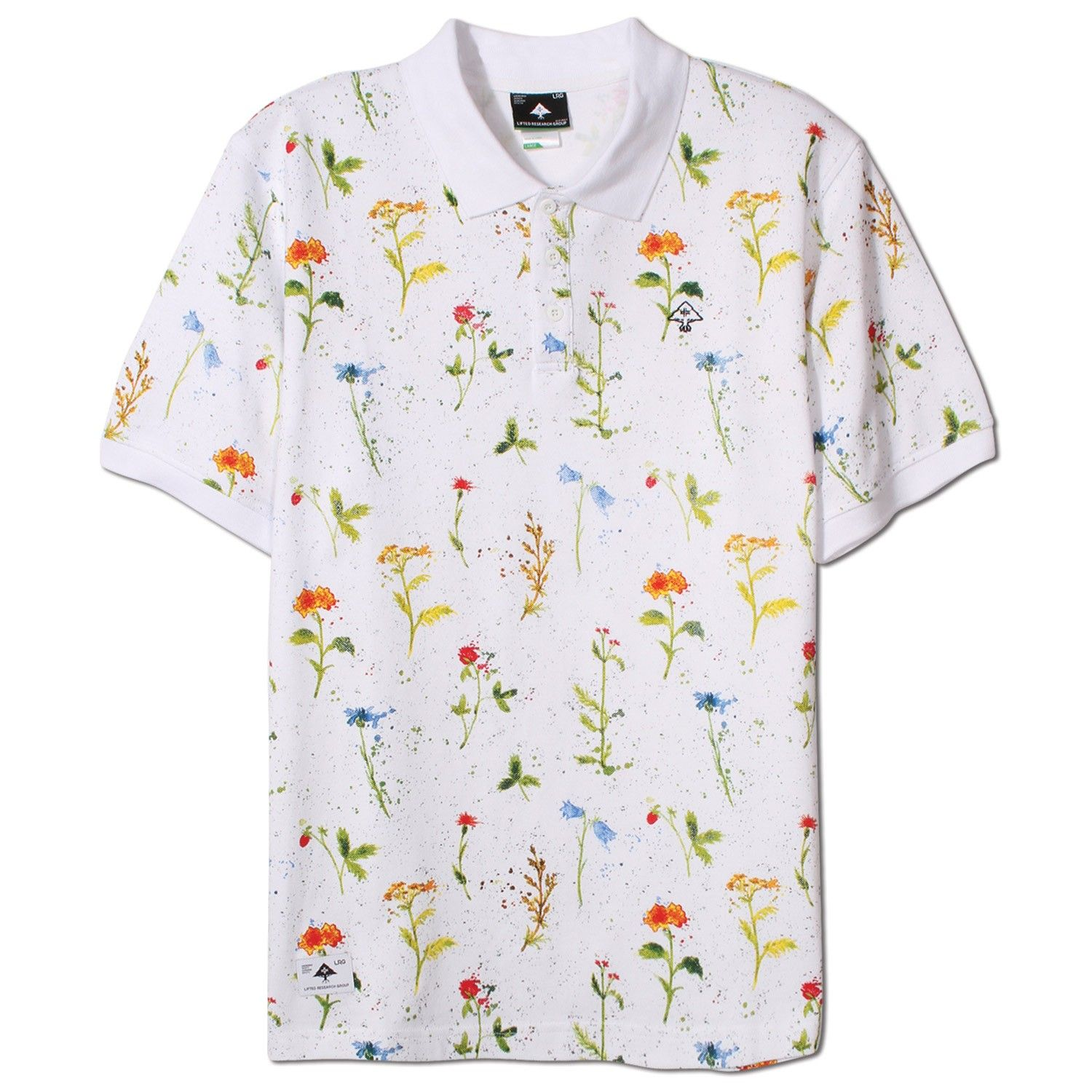 LRG Grown Not Made SS Polo - White