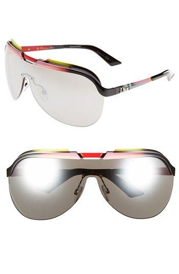 a028128486 Women s Christian Dior  Solar  Shield Sunglasses - Fuchsia Pink  Yellow