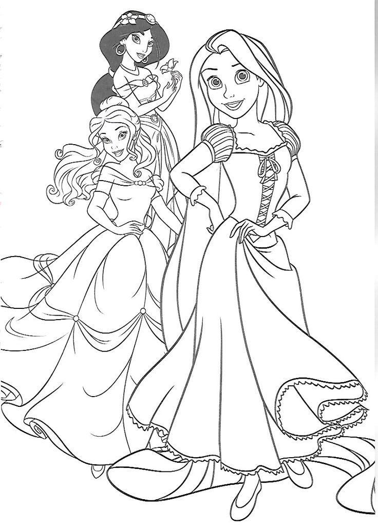 Coloriage Princesse Jeux Unique 93 Best Groupe Disney Images On Pinterest   Coloriage princesse ...