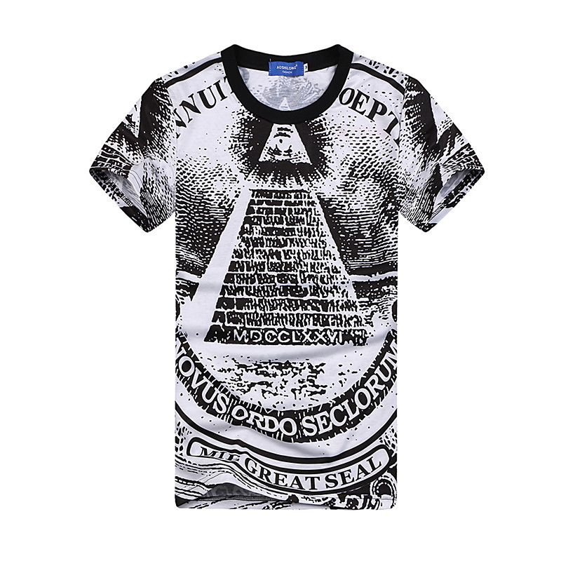 New 2015 male shirt Pyramid 3D clothing famous brand Camiseta 3d ...