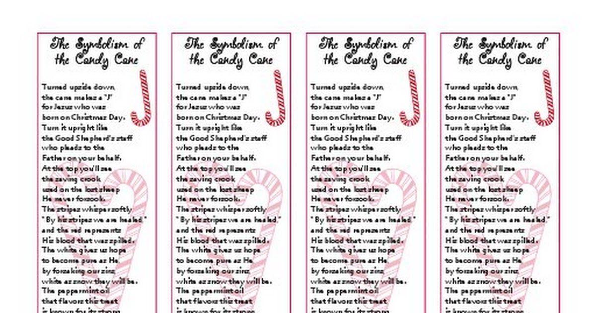 Candy Cane Poem Bookmark3 Pdf Candy Cane Poem Candy Cane Christmas Workshop
