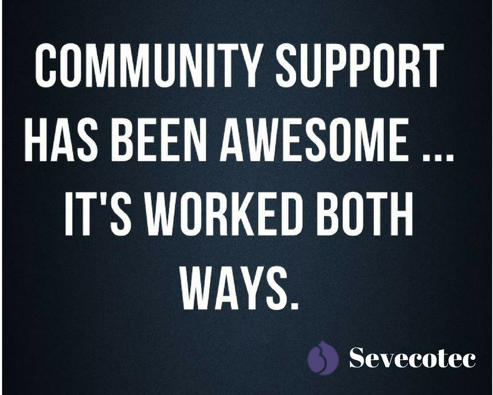 Community Quotes Community Support Has Been Awesomeit's Worked Both Ways