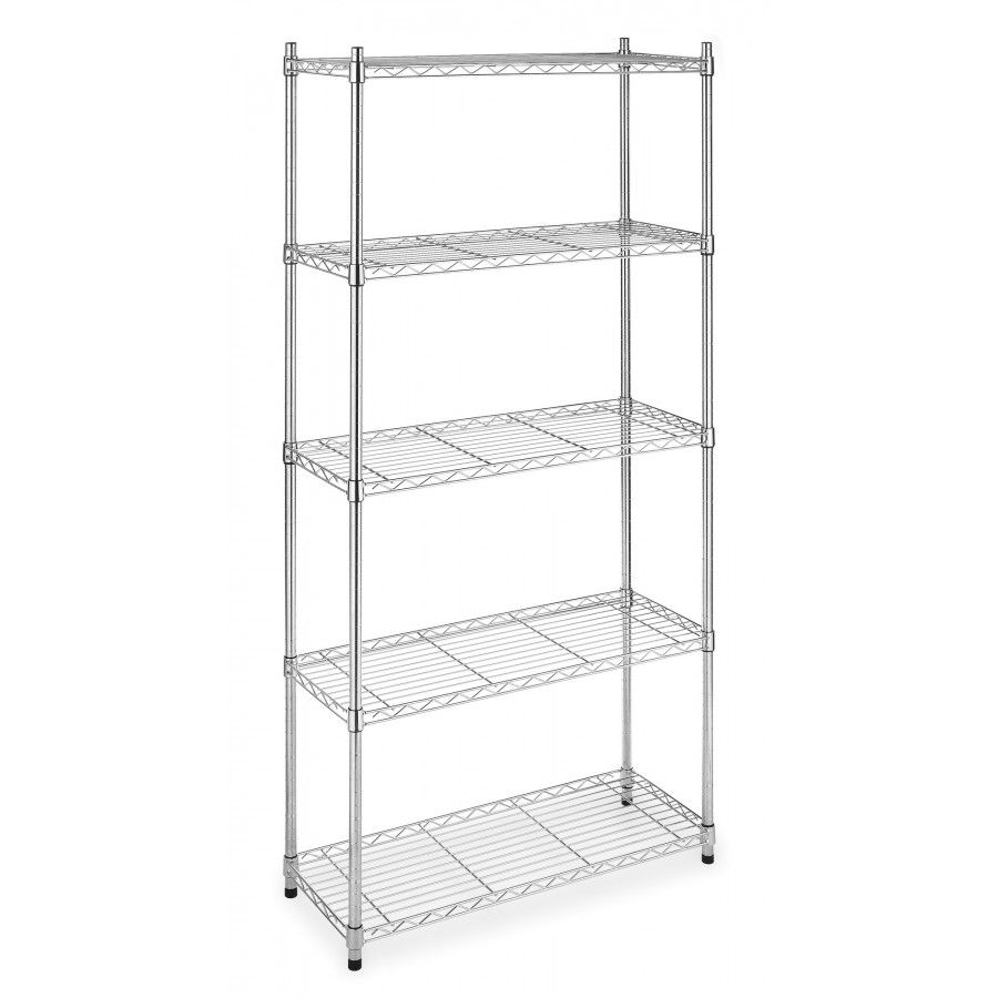 Whitmor Inc Five Tier Supreme Shelving In Chrome 7060