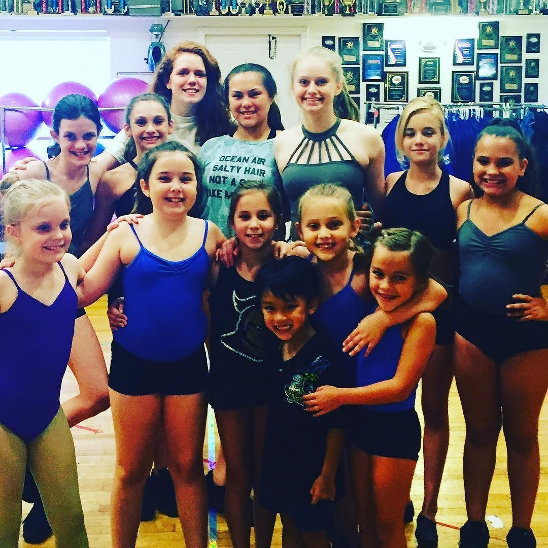 A few of the girls with their new dancing pal Paxton! #dancebuddies #summercamp #summerdance #colbydancepride #dancefamily #maitlandfl