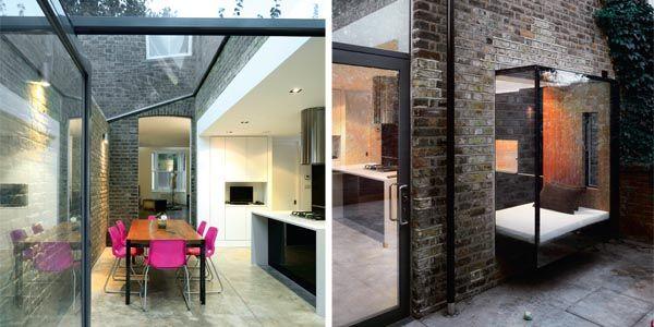 open-plan kitchen-diner \ frameless glazed oriel window creates a