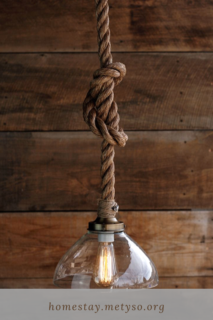 Give Your Rooms Some Spark With These Easy Rustic Hanging Bulb