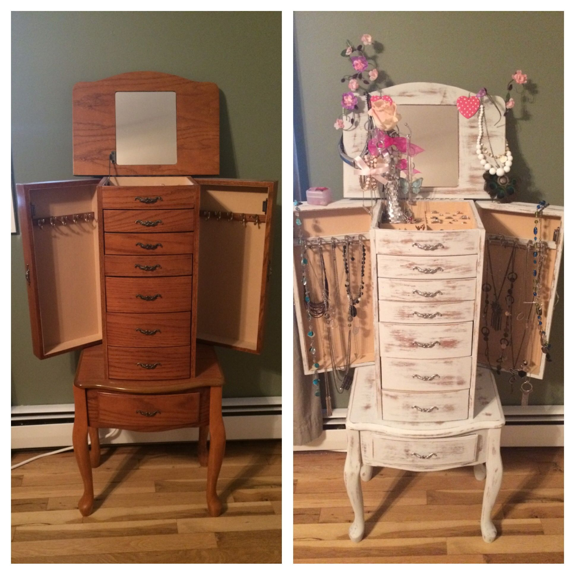 french distressed furniture. Shabby Chic Furniture · Refinished Jewelry Armoire. French Chic, Distressed Wood Using Chalk Paint And Spray Painted