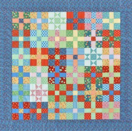 Uneven Nine-Patch & Star Quilt | Mary's quilt board | Pinterest ... : polka dot quilt pattern - Adamdwight.com