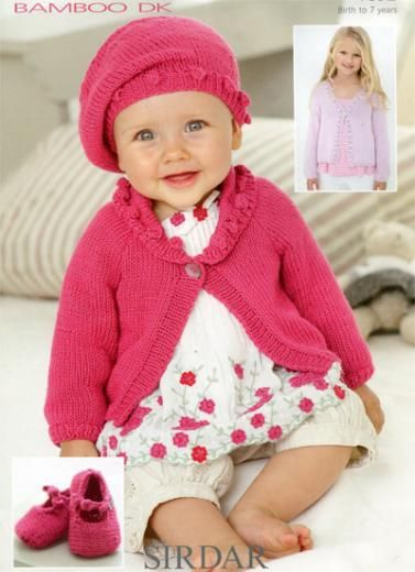 Sirdar Knitting Pattern Baby Bamboo Dk 1892 Sirdar 279 Pack
