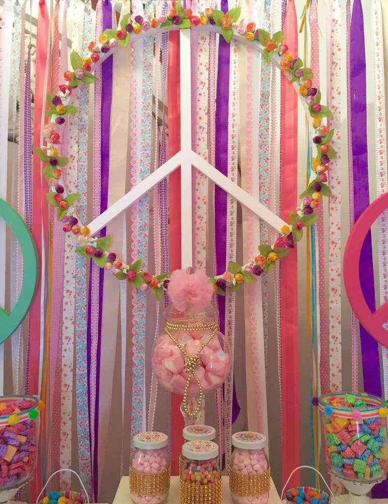 hippie chic birthday party ideas deco soiree boh me et soiree. Black Bedroom Furniture Sets. Home Design Ideas