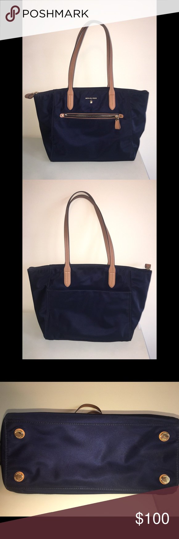 d1cf6f6344e5 Michael Kors Kelsey Large Top-Zip Tote (Navy) Brand new with tags Michael