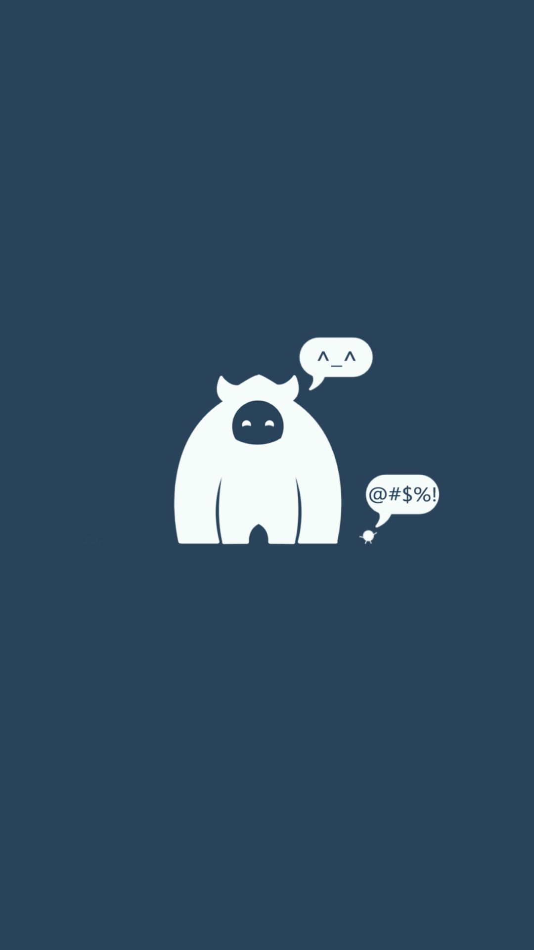 White monster tap to see more funny cartoon iphone - Funny iphone wallpaper ...