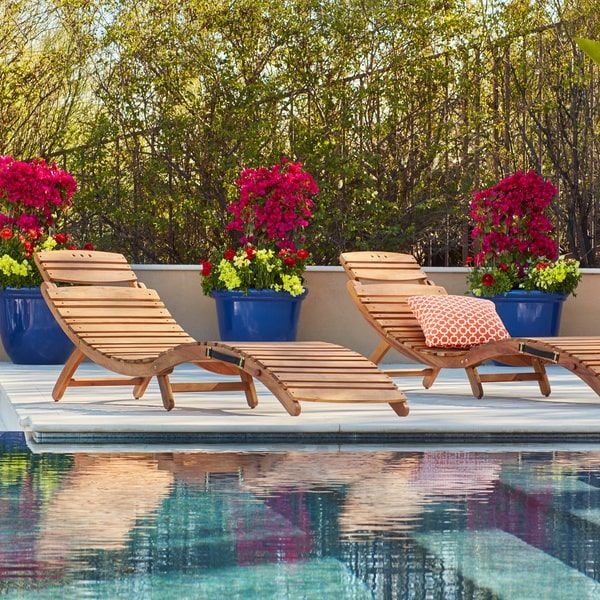 Lahaina Outdoor Acacia Wood Chaise Lounge By Christopher