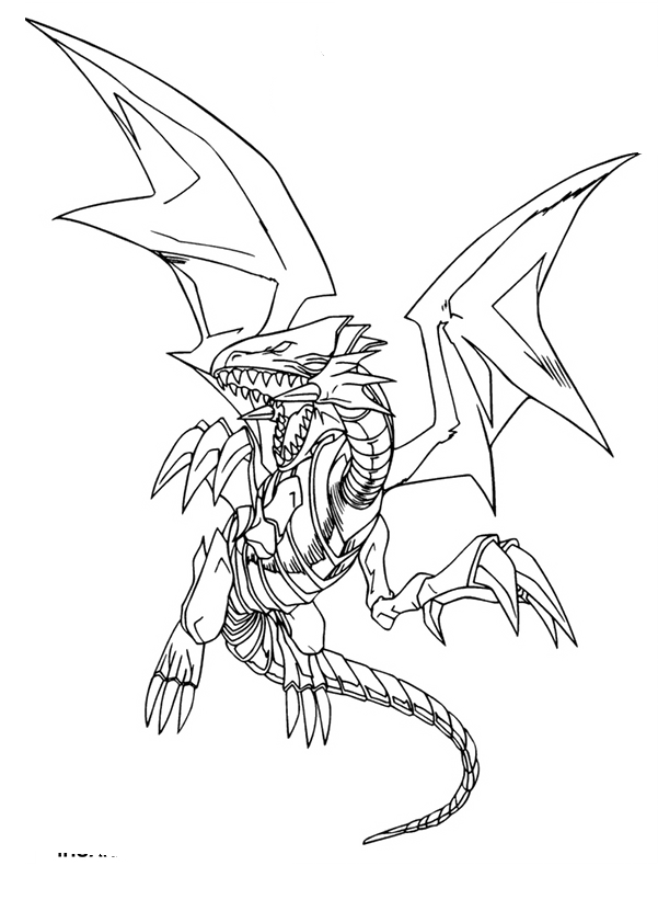 Blue Eyes White Dragon Coloring Pages Dragon Coloring