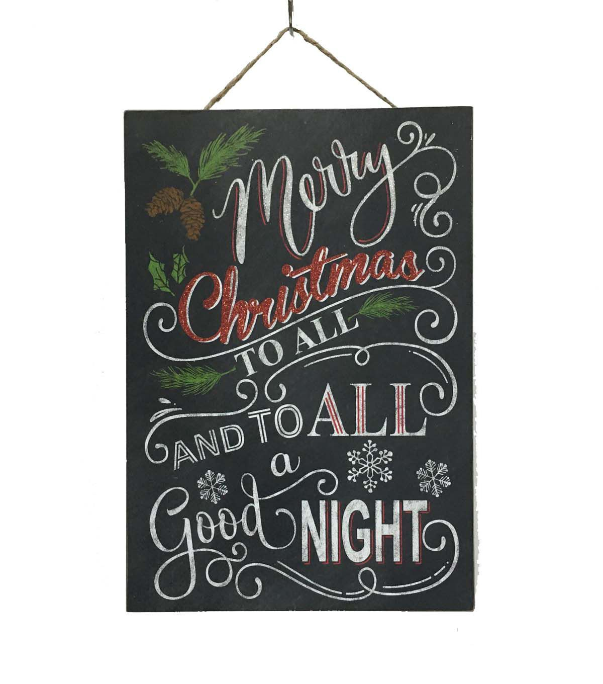 Maker's Holiday To All A Good Night Wall Decor