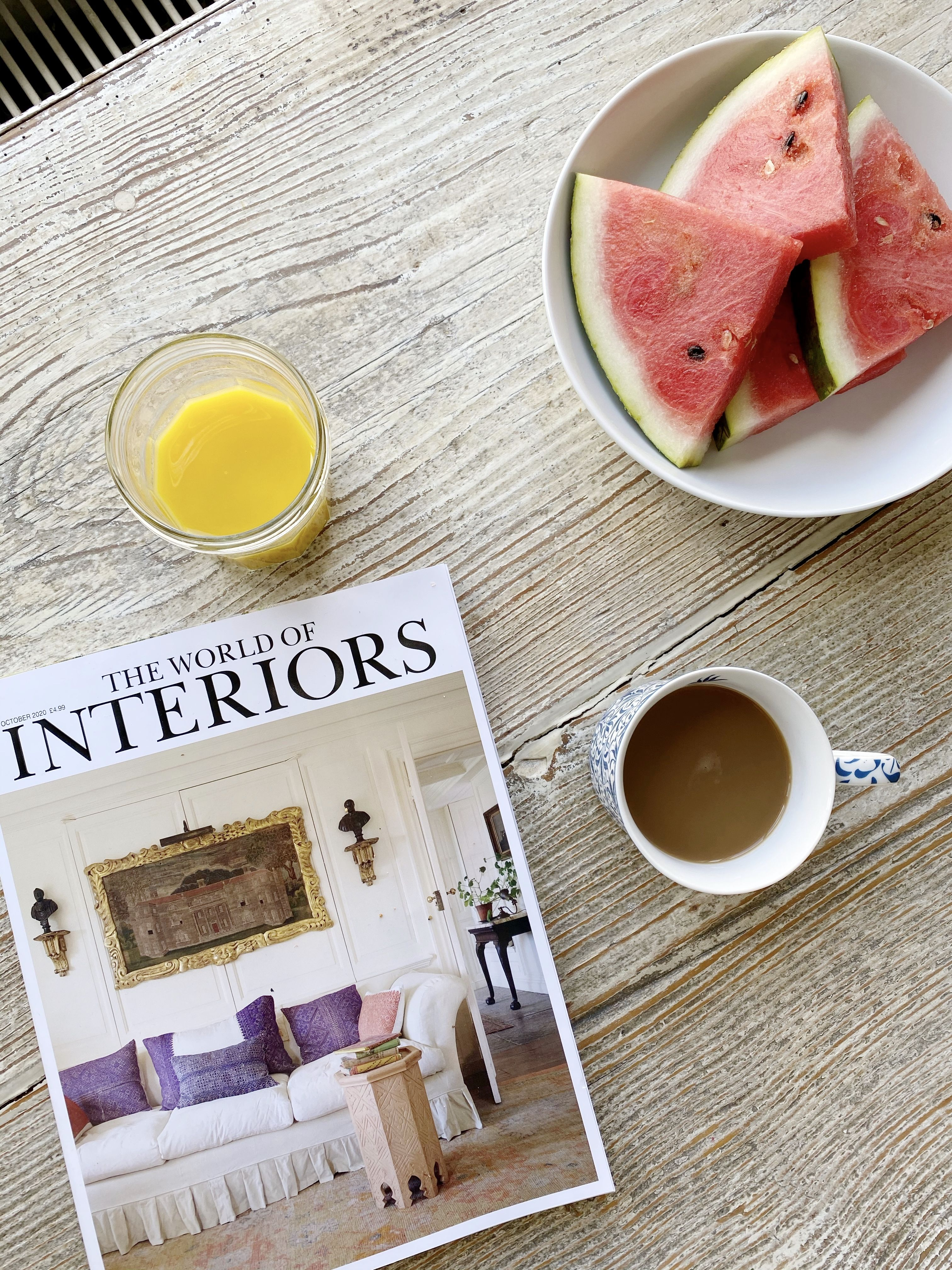 The most important and my favourite meal of the day...Breakfast! 🍉 🍊 . . . . . #interiors #interiordesigns #londoninteriordesigner #instahome #instafood #instagood #theworldofinteriors