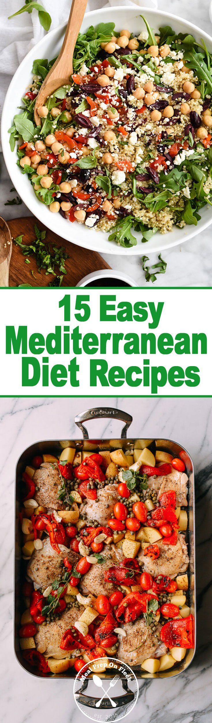 15 easy mediterranean diet meal prep recipes